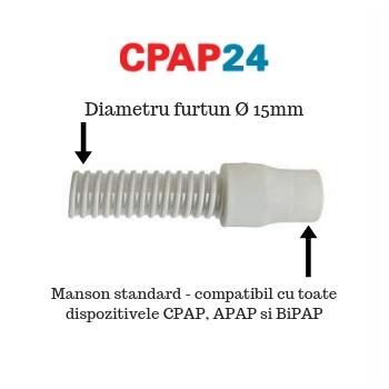 Furtun CPAP Slim pt. Blue StandardPlus & AutoPlus - DeVilbiss (Ø15 mm, 1.8 m) 1