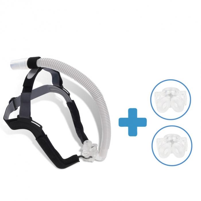 Oferta: Masca CPAP Pillow ALOHA + 2 x Narine Siliconate de schimb 0