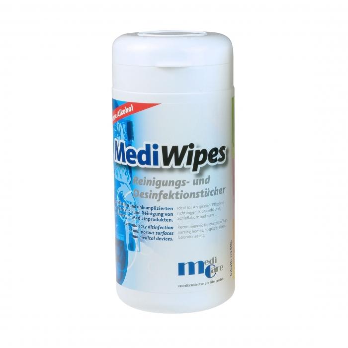 Servetele umede curatare/dezinfectare masca CPAP - MediWipes Neutral (115buc,30x30cm) 0